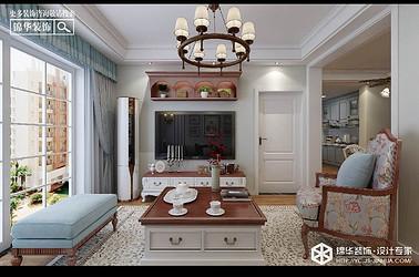 美式风格-登达新天地-公寓-80㎡装修实景效果图