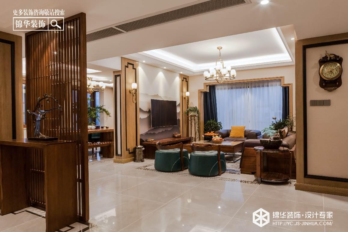 新中式风格-香苑西园-别墅-300㎡装修实景效果图装修-别墅-新中式
