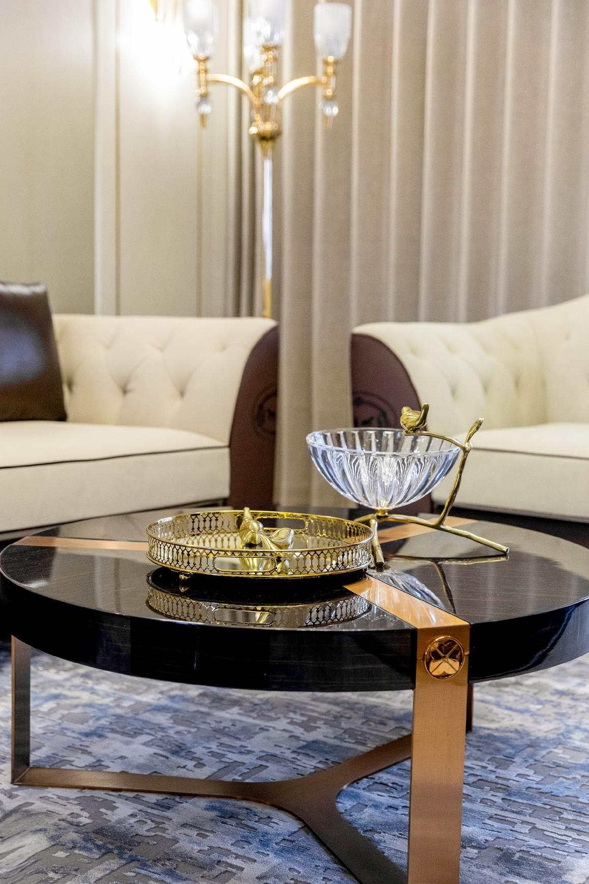 现代轻奢-龙泊湾-平层-220㎡装修实景效果图装修-三室两厅-现代简约