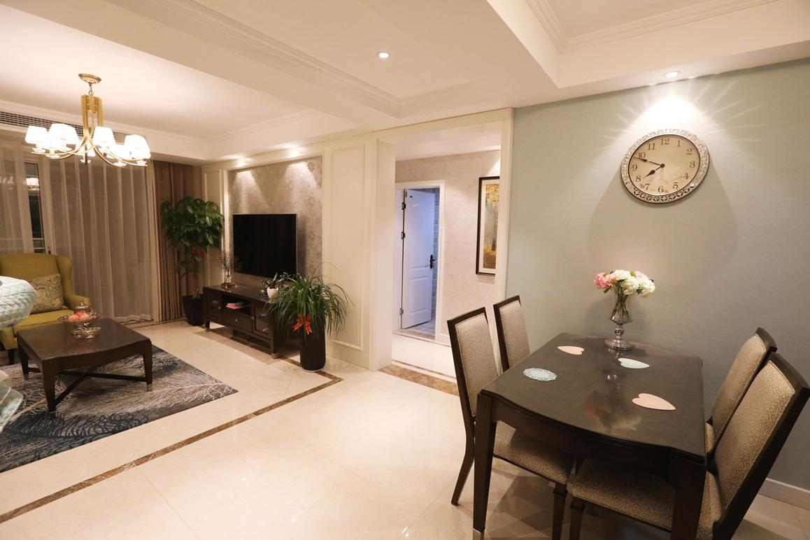 美式风格-凤鸣缇香-三室一厅-105㎡装修实景效果图装修-三室一厅-简美