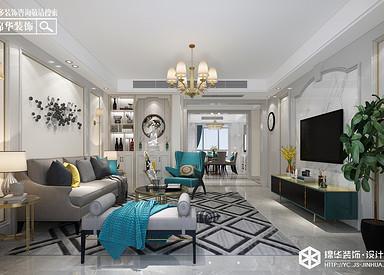 简美风格-橡树湾-三室两厅-140㎡装修实景效果图