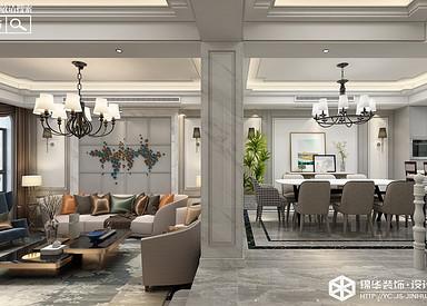 现代风格-明新半岛花园-别墅-269㎡装修实景效果图