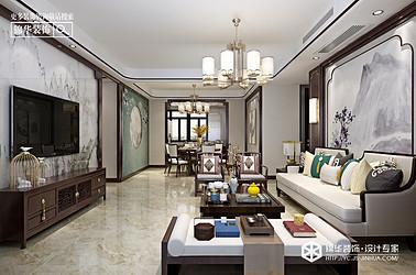 新中式风格-碧桂园-三室两厅-120㎡装修实景效果图