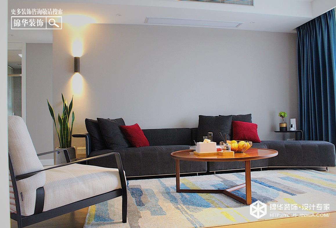 现代简约-在水一方-三室两厅-110㎡装修实景效果图装修-三室两厅-现代简约