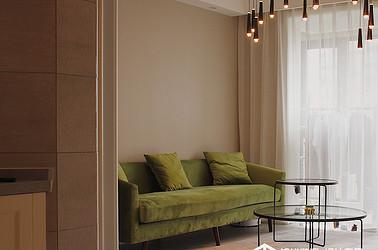 现代风格-凤鸣缇香—两室一厅公寓-98㎡装修实景效果图