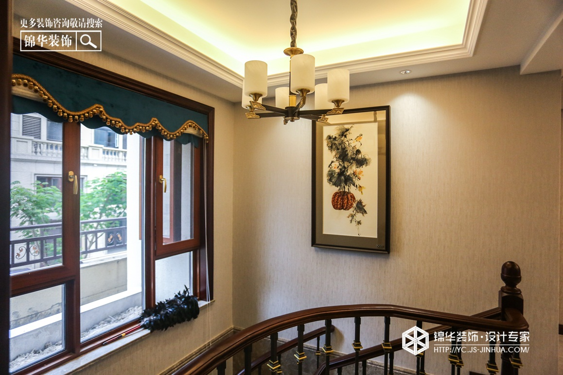新中式风格-梧桐墅-别墅-225㎡装修实景效果图装修-别墅-新中式