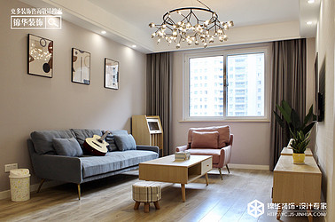 现代简约-悦达-汇文苑-三室两厅-110㎡装修实景效果图