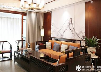 新中式风格-中海万锦园-三室两厅-140㎡装修实景效果图