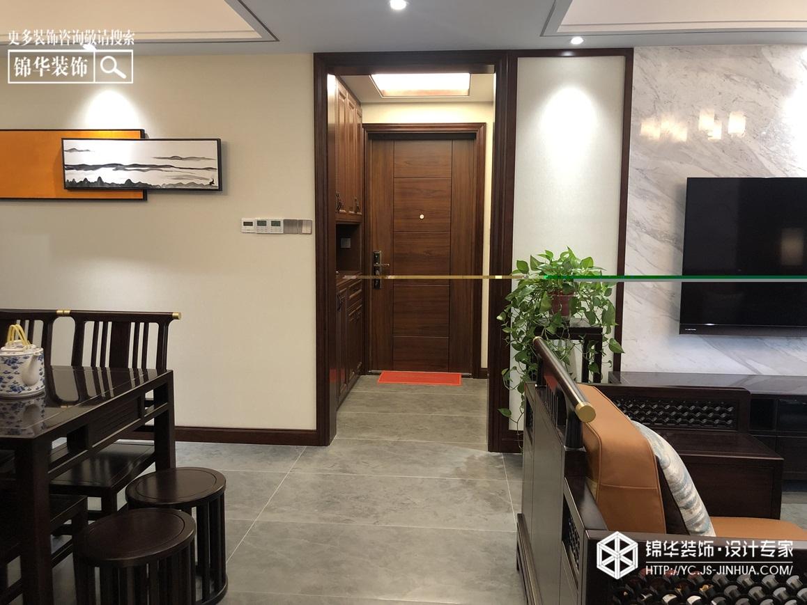 新中式风格-中海万锦园-三室两厅-140㎡装修实景效果图装修-三室两厅-新中式