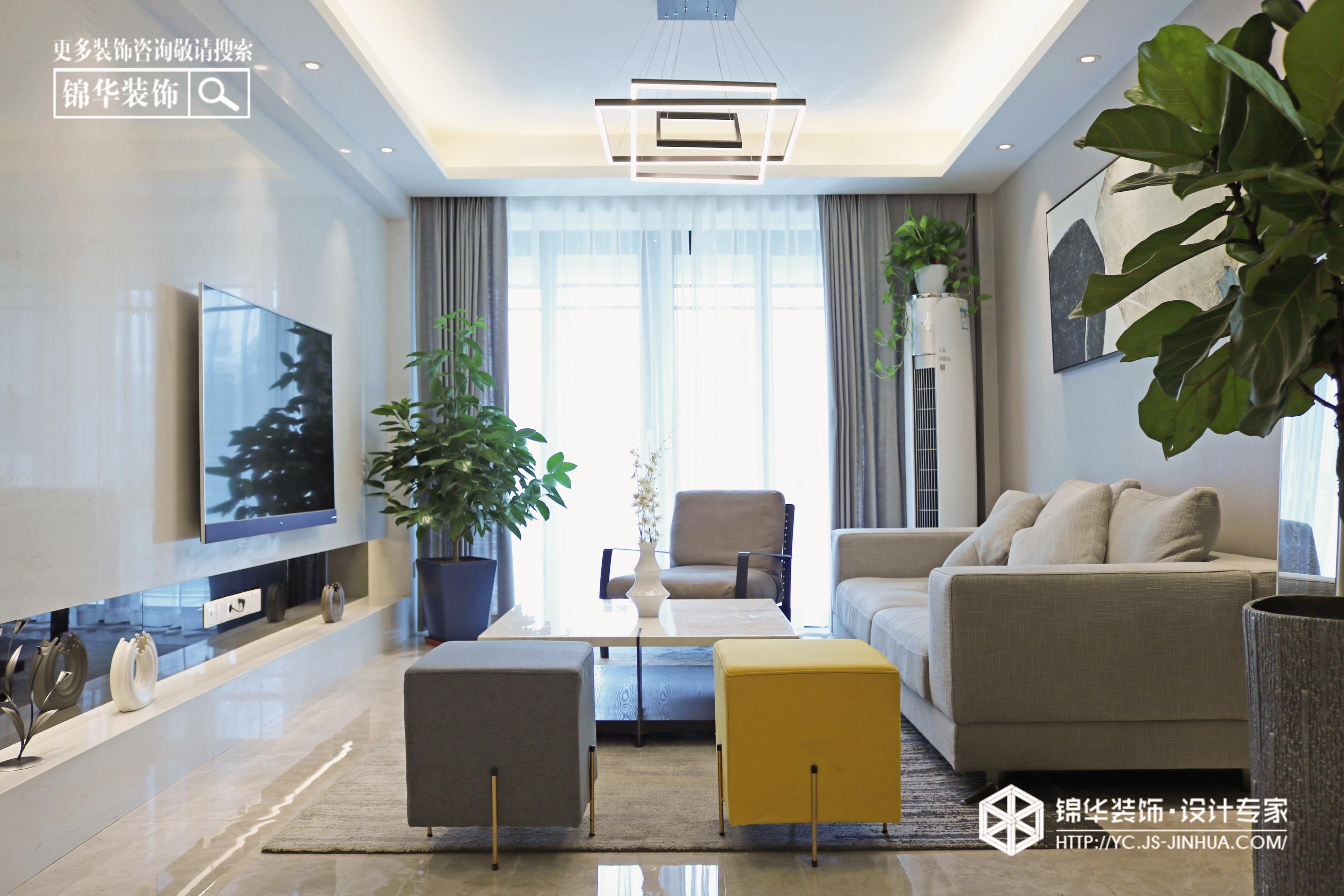 现代简约-日月名苑-三室两厅-138㎡-装修实景效果图