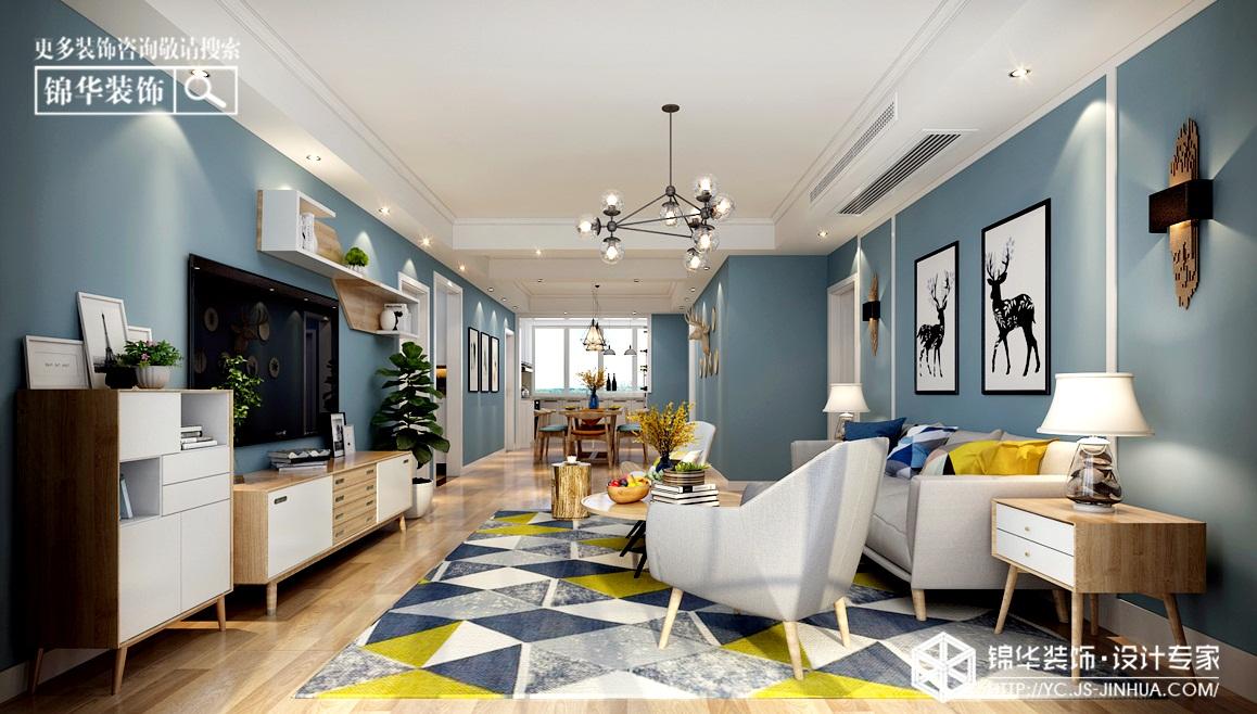 北欧风格-2009庄园-三室两厅-120㎡装修实景效果图