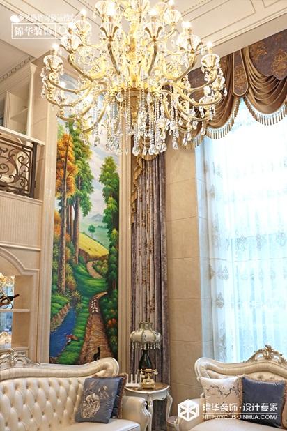 法式风情-宝龙广场-复式-300㎡装修实景效果图装修-大户型-欧式古典