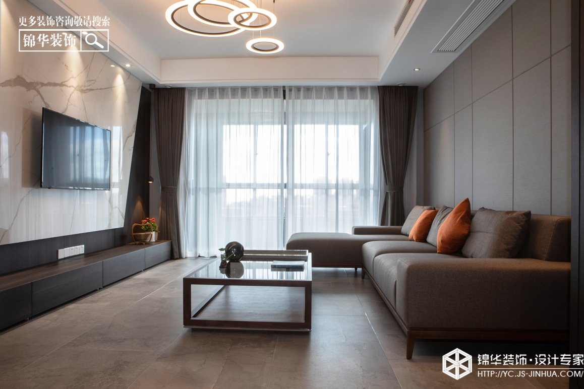 现代简约-悦达·悦珑湾-三室两厅-115㎡装修实景效果图装修-三室两厅-现代简约