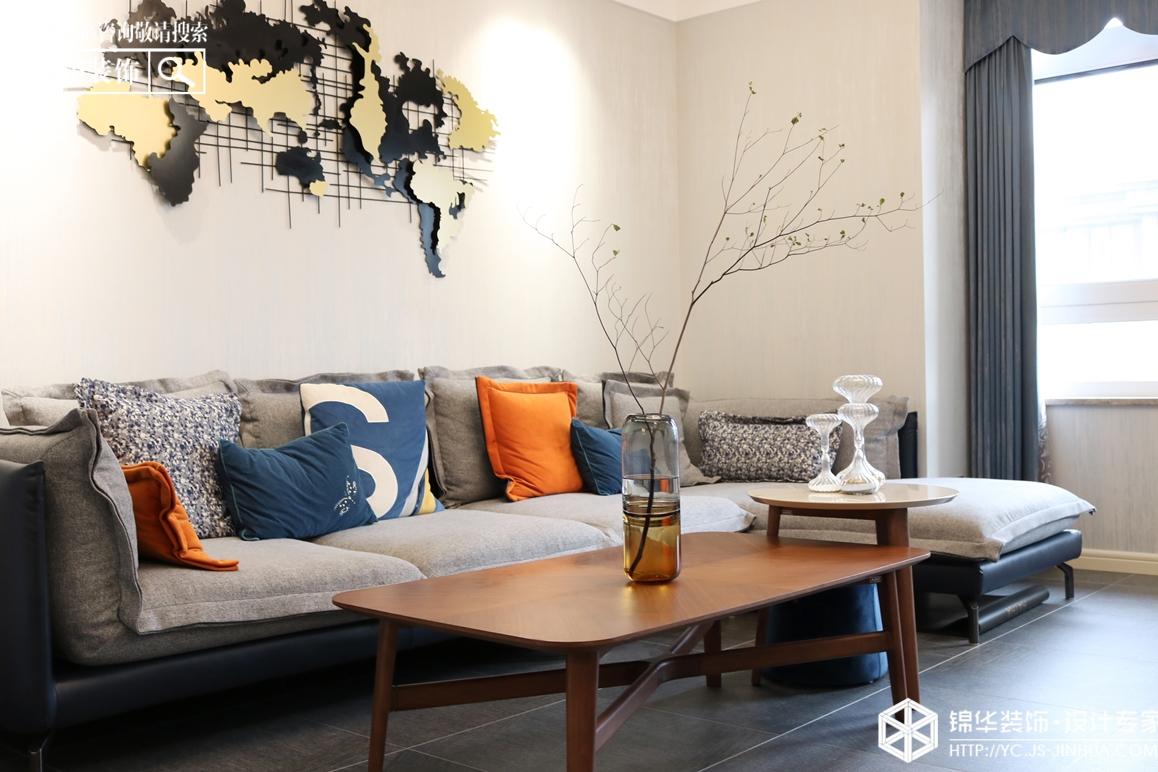 现代简约-城中一号-三室两厅-80㎡装修实景效果图