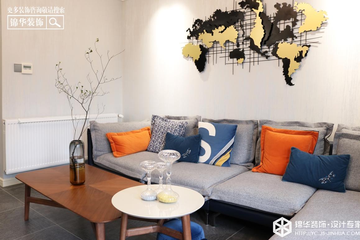 现代简约-城中一号-三室两厅-80㎡装修实景效果图装修-三室两厅-现代简约