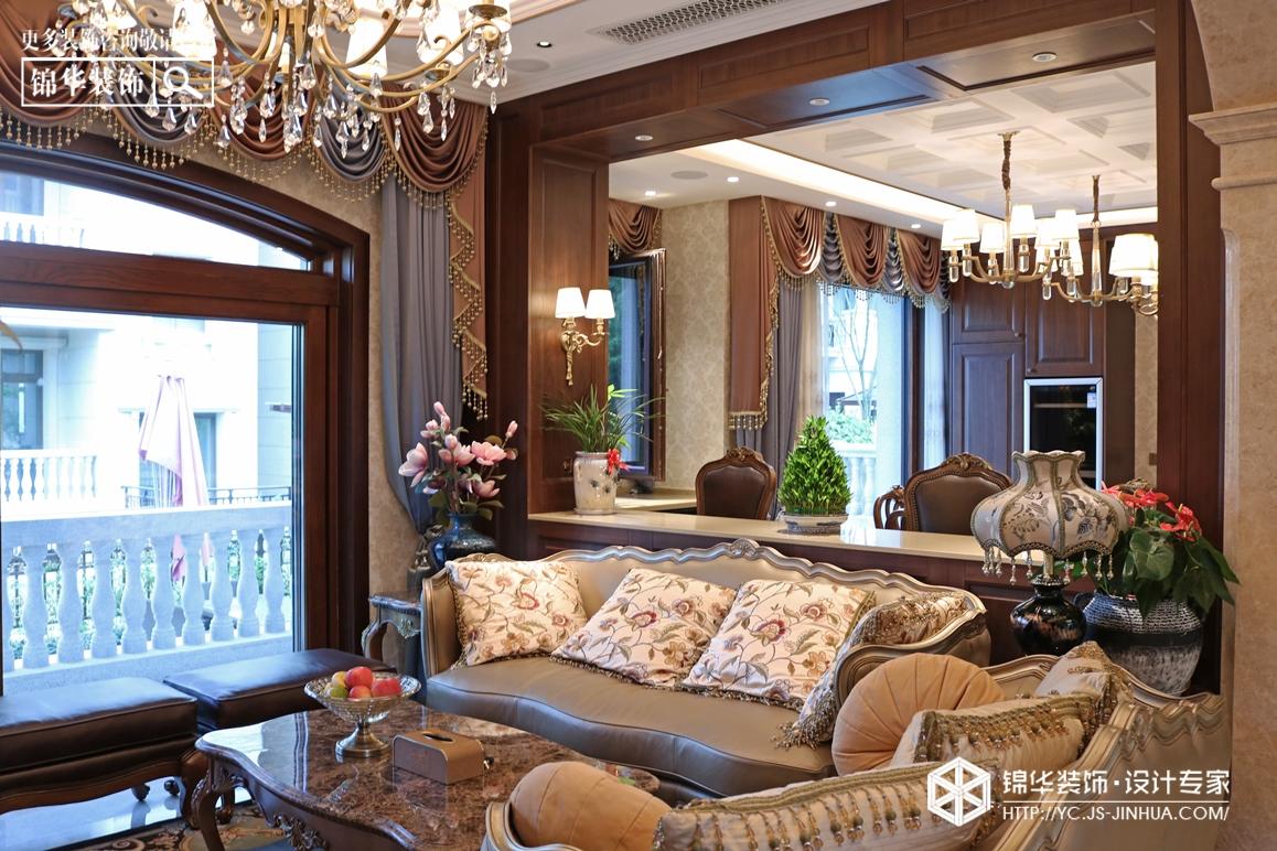 美式风格-碧桂园-别墅-360㎡-装修实景效果图
