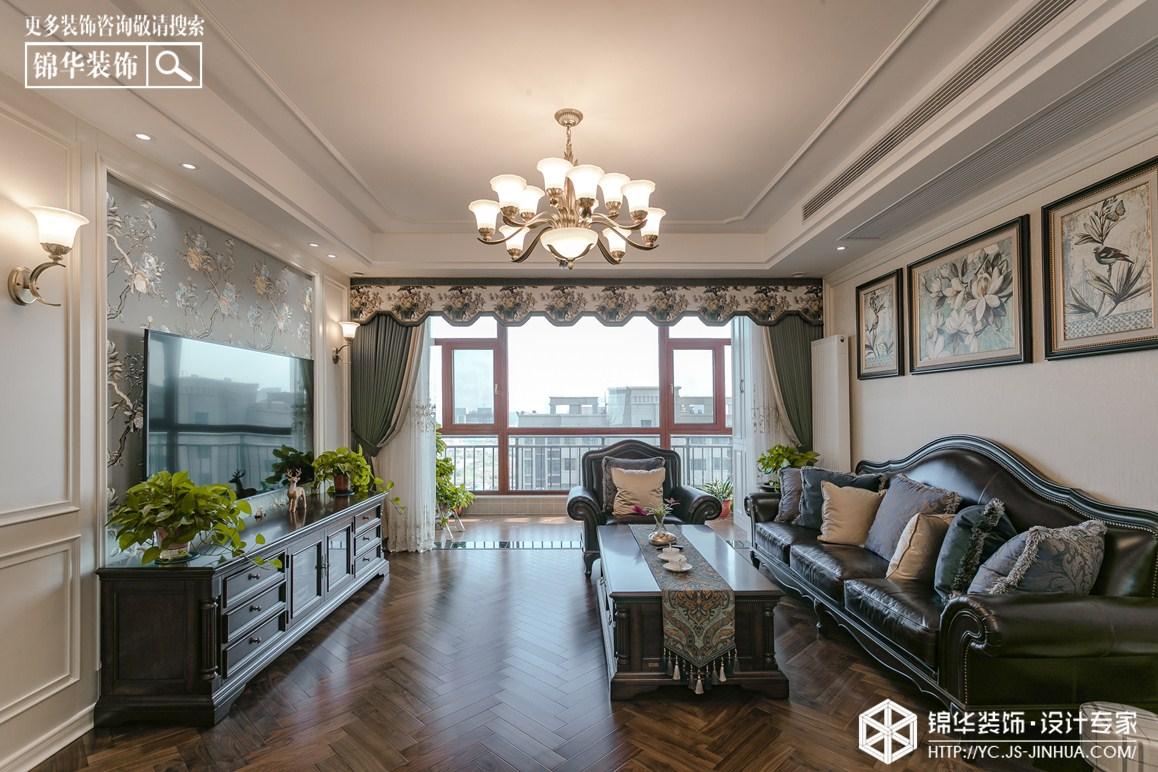 美式风格-碧桂园-三室两厅-160㎡装修实景效果图