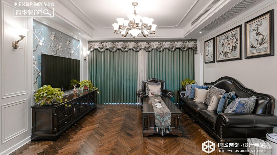 美式风格-碧桂园-三室两厅-160㎡装修实景效果图装修-三室两厅-美式田园