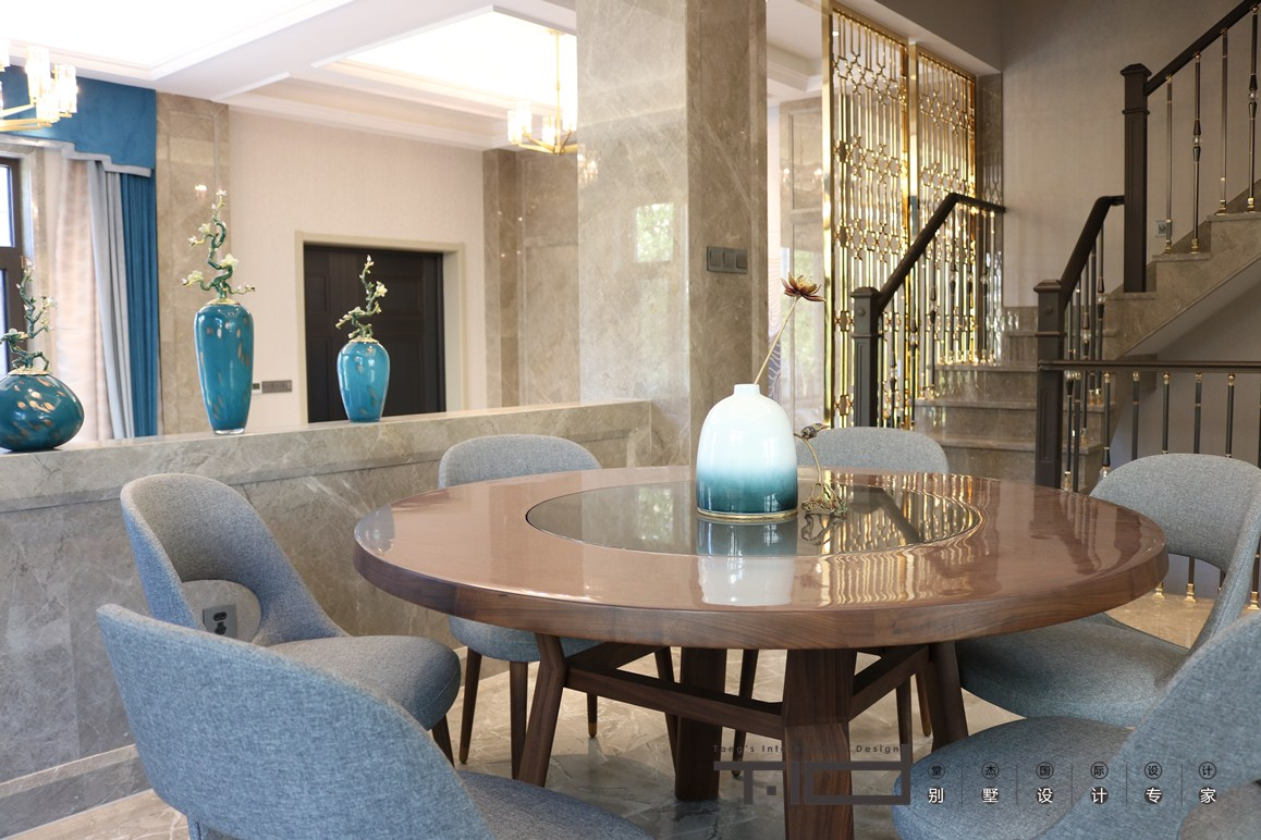 现代风格-半岛花园-别墅-380㎡-装修实景效果图装修-别墅-现代简约