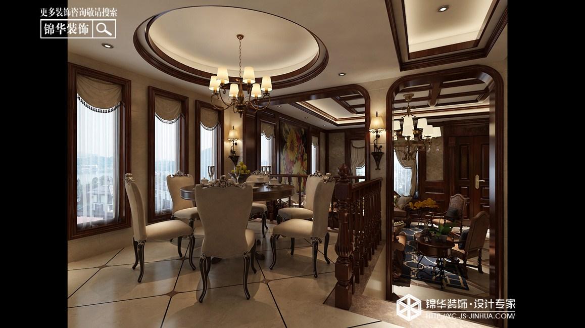 欧式古典-中海世纪公馆-别墅-330㎡装修实景效果图装修-别墅-欧式古典