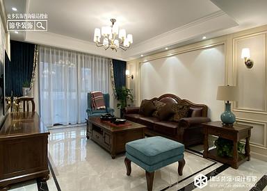 小美风格-悦珑湾-三室两厅-130㎡装修实景效果图