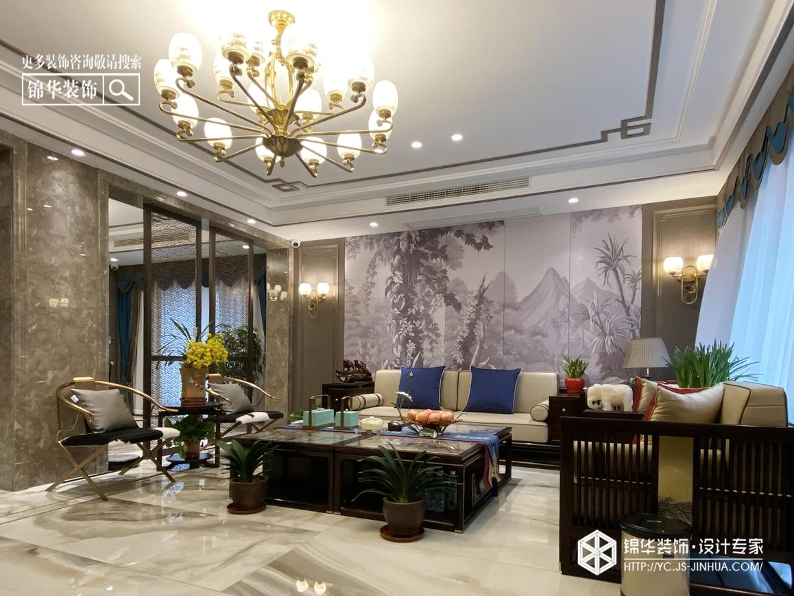 新中式-建湖双湖一品-别墅280装修实景效果图装修-别墅-新中式