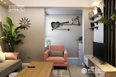 北欧风格-绿地国际花都-两室两厅-100㎡装修实景效果图