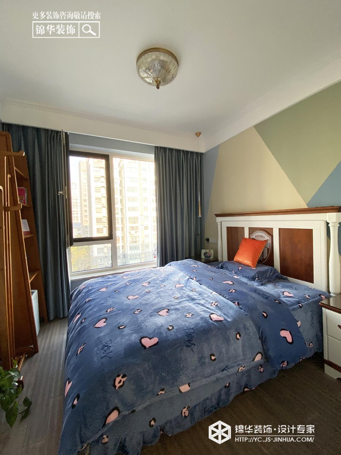 美式风格-晶都悦府-三室两厅-140㎡装修实景效果图装修-三室两厅-简美