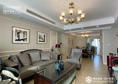 美式风格-晶都悦府-三室两厅-140㎡装修实景效果图