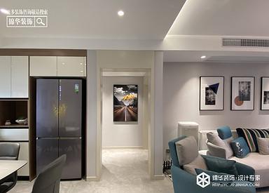 现代风格-龙泊湾-三室两厅-120㎡-装修实景效果图
