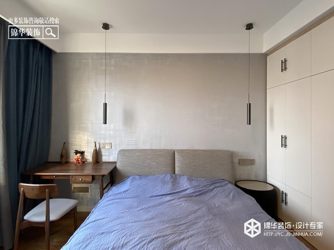 现代风格-龙泊湾-三室两厅-120㎡-装修实景效果图装修-三室两厅-现代简约