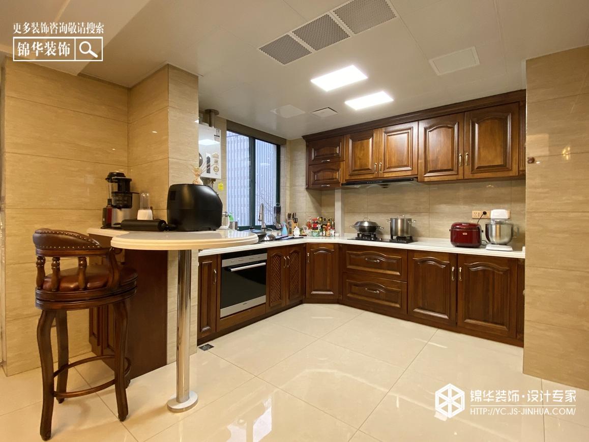美式风格-紫薇花园-三室两厅-160㎡装修实景效果图装修-三室两厅-简美