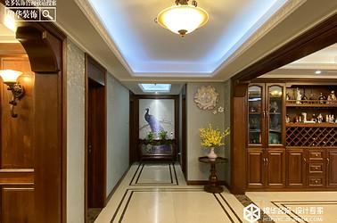 美式风格-紫薇花园-三室两厅-160㎡装修实景效果图