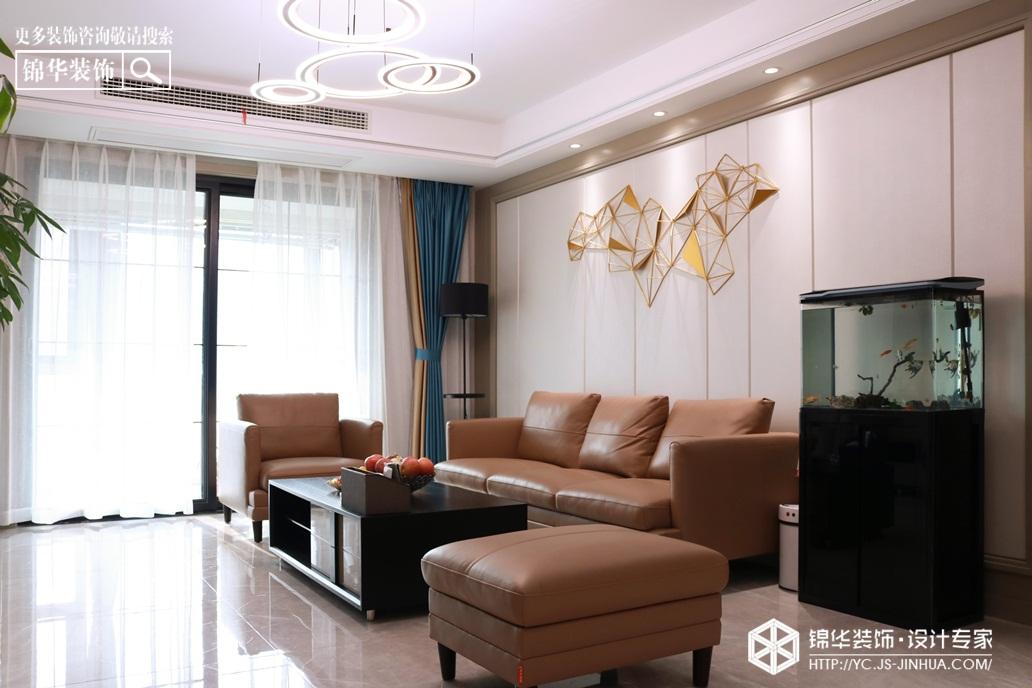现代简约-圣华雍翠园-三室两厅-130㎡装修实景效果图