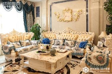 欧式风格-中海世纪公馆-别墅-200㎡装修实景效果图
