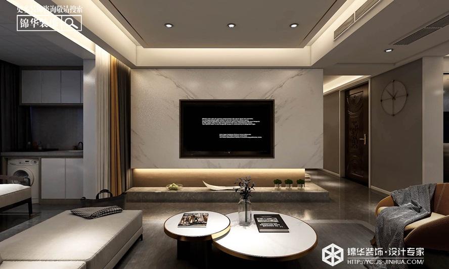 现代简约-金辉城 优步水岸 -三室两厅-140㎡装修实景效果图装修-三室两厅-现代简约