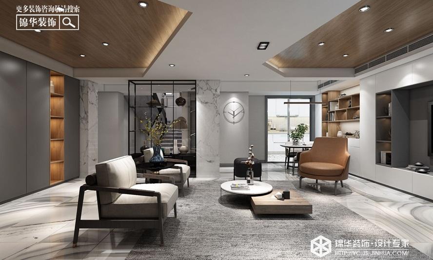 现代简约- 金庭苑 -复式-220㎡装修实景效果图装修-三室两厅-现代简约