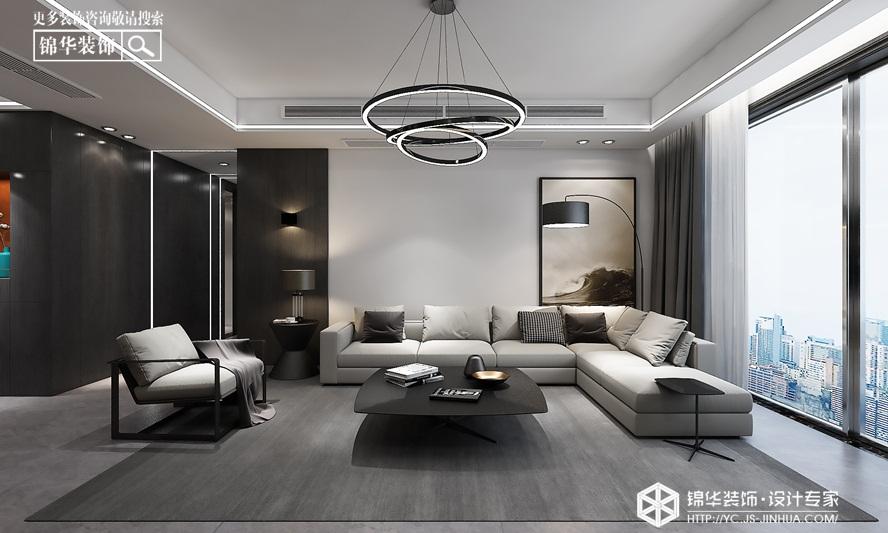 现代简约 -日月星城 -平层-190㎡装修实景效果图装修-三室两厅-现代简约