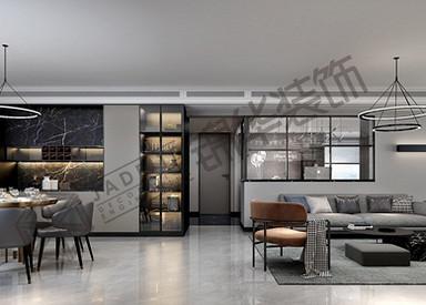 现代极简-高教公寓-平层-190㎡装修实景效果图