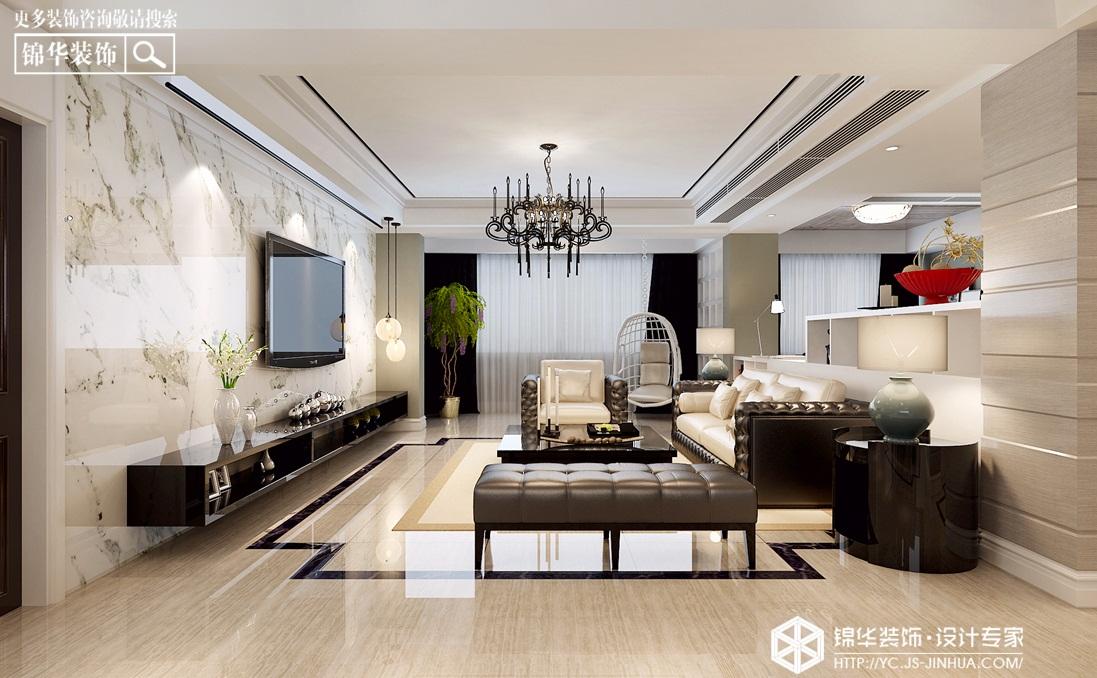 现代简约-钱江方州-平层-230㎡装修实景效果图