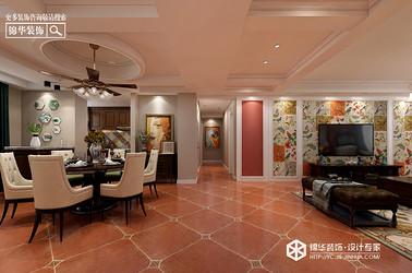 美式风格-恒隆花园-三室两厅-120㎡装修实景效果图