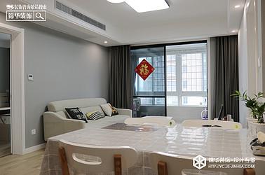 北欧风格-幸福花苑-三室一厅-110㎡装修实景效果图
