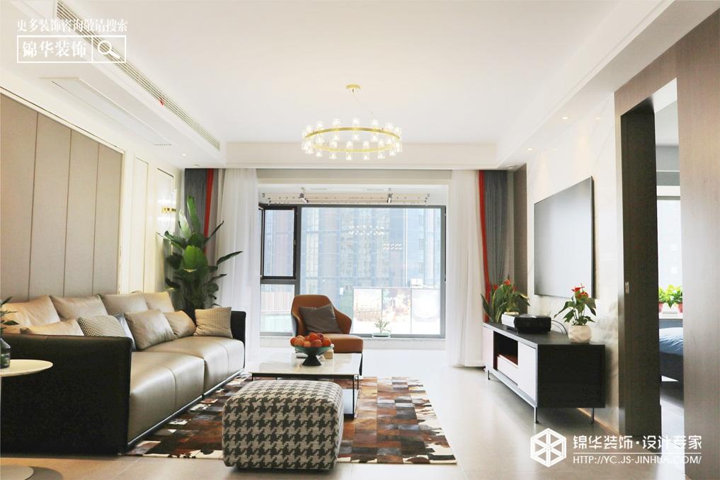 现代风格-橡树湾-平层-150㎡装修实景效果图装修-三室两厅-现代简约