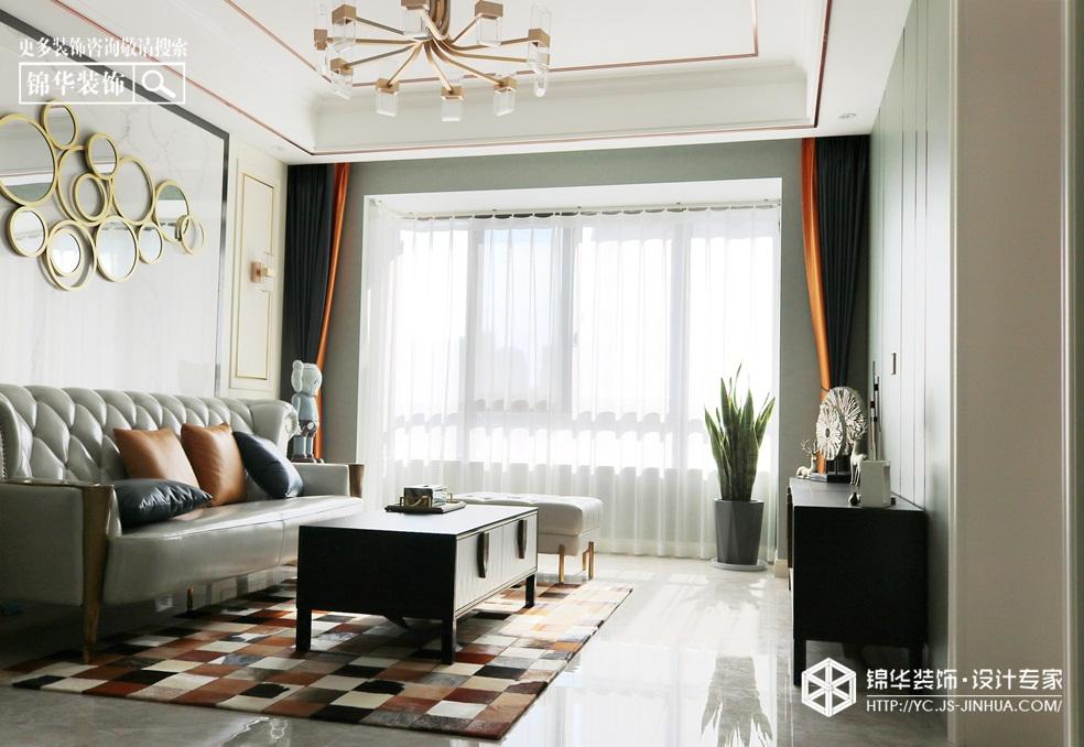 轻奢风格-香苑东园-三室两厅-117㎡-装修实景效果图