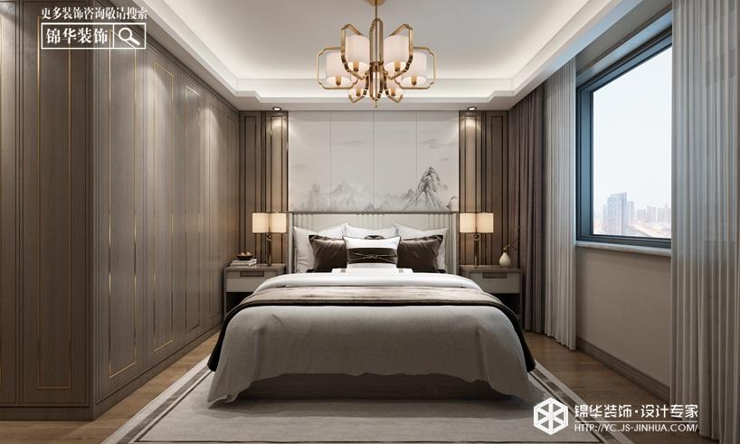 新中式风格-德惠尚书房-三室两厅-145㎡装修实景效果图装修-三室两厅-新中式