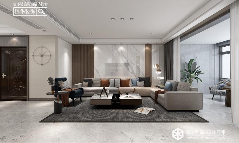现代简约-中海世纪公馆-三室两厅-145㎡装修实景效果图装修-三室两厅-现代简约