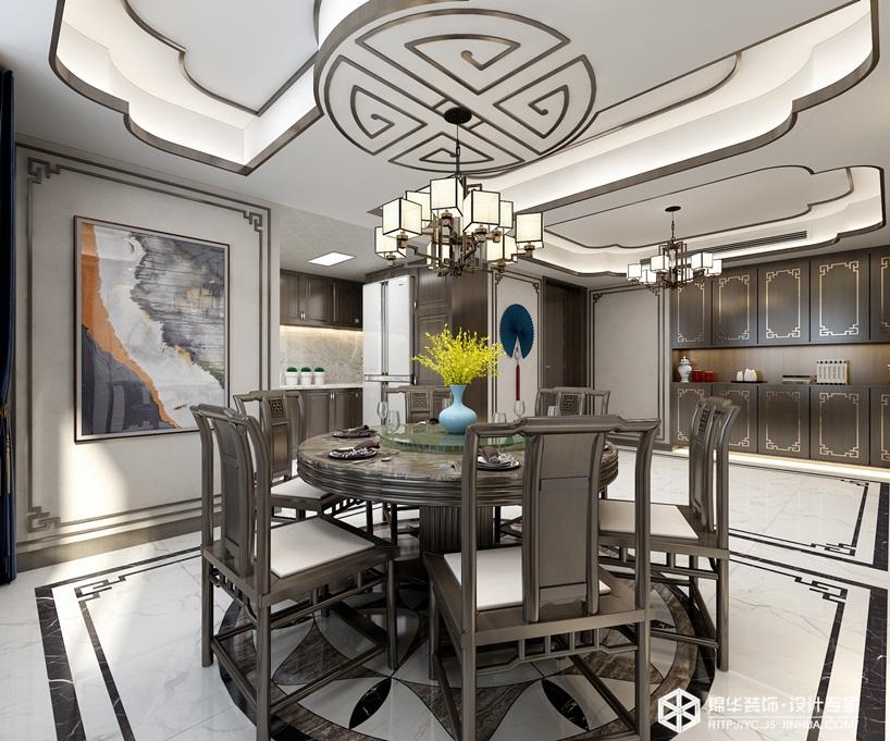 新中式风格-瑞尔湖畔居-平层-190㎡装修实景效果图装修-大户型-新中式