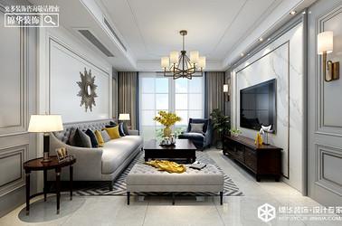 简美风格-香苑东园-三室两厅-125㎡装修实景效果图