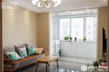 现代北欧-华建颐园-两室一厅-90㎡装修实景效果图