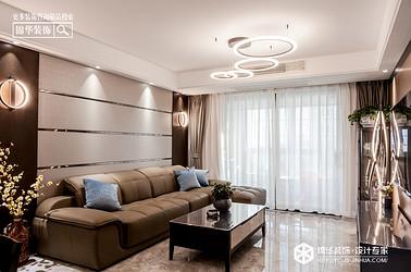 现代简约-大丰 中交美庐城-三室两厅-120㎡装修实景效果图